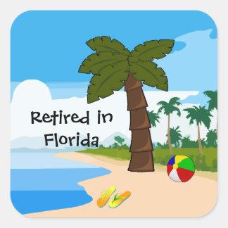 Pegatina Cuadrada Retirado en la Florida