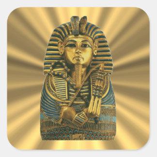 Pegatina Cuadrada Rey de oro Tut #2