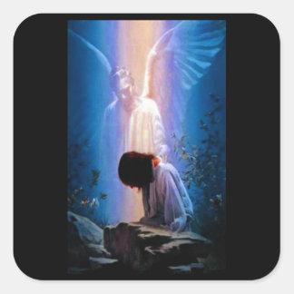 Pegatina Cuadrada Rezo del ángel