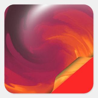 Pegatina Cuadrada Rizo de la página de Light_Fire_Twirl