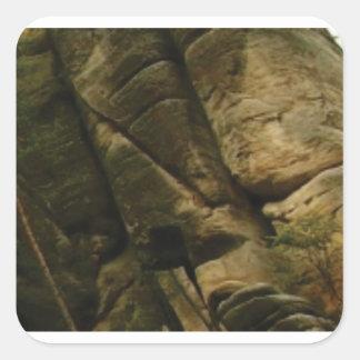 Pegatina Cuadrada rocas grises del estruendo