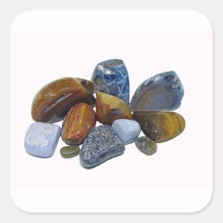 Pegatina Cuadrada Rocas pulidas