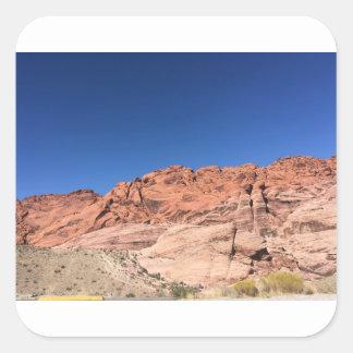 Pegatina Cuadrada Rocas rojas y cielos azules