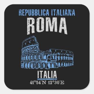 Pegatina Cuadrada Roma
