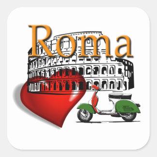 Pegatina Cuadrada Roma in my Heart