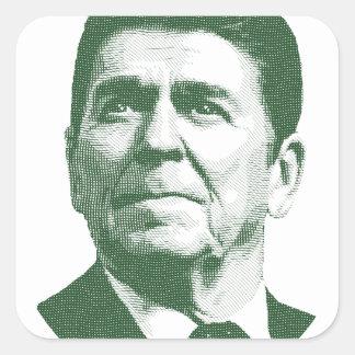 Pegatina Cuadrada Ronald Reagan una nación debajo de dios