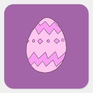 Pegatina Cuadrada Rosa del huevo de Pascua