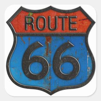 Pegatina Cuadrada Ruta 66
