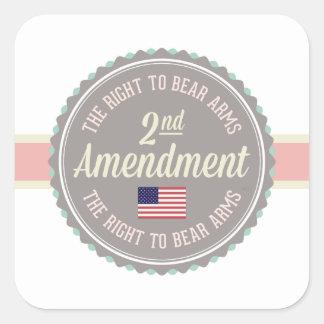 Pegatina Cuadrada Segunda enmienda
