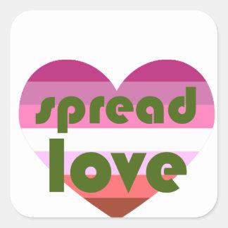 Pegatina Cuadrada Separe el amor lesbiano