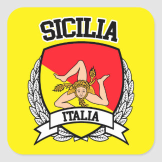 Pegatina Cuadrada Sicilia