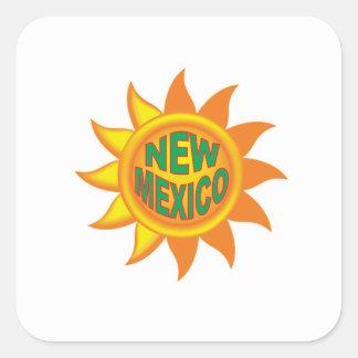 Pegatina Cuadrada Sol de New México