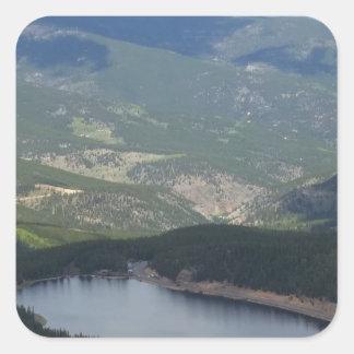 Pegatina Cuadrada Soporte Evans, Colorado