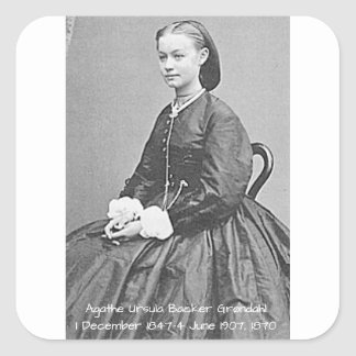 Pegatina Cuadrada Soporte Grondahl, 1870 de Ágata Ursula