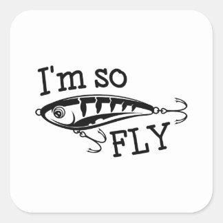 Pegatina Cuadrada Soy así que mosca