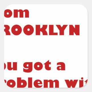 Pegatina Cuadrada Soy de Brooklyn
