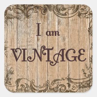 Pegatina Cuadrada Soy vintage