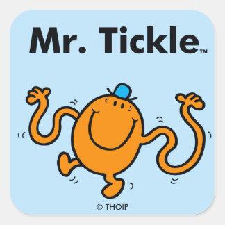 Pegatina Cuadrada Sr. Tickle Will Tickle de Sr. Men el |