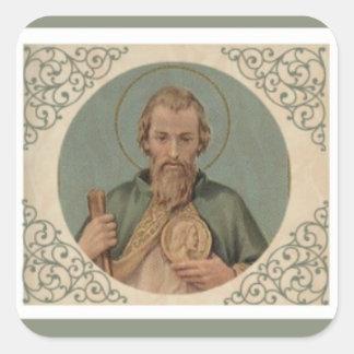 Pegatina Cuadrada St. Jude el primo del apóstol de Jesús