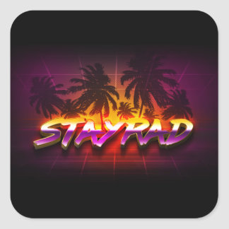 Pegatina Cuadrada StayRad 80s
