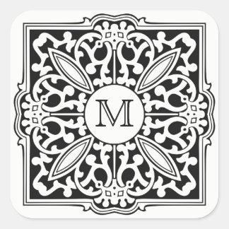 Pegatina Cuadrada SU MONOGRAMA en pegatinas decorativos del