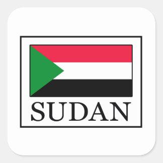 Pegatina Cuadrada Sudán