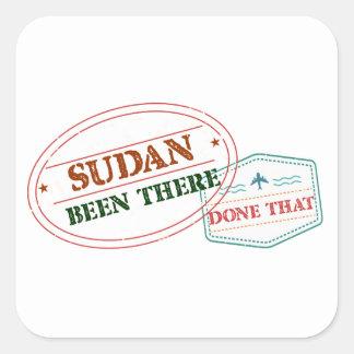 Pegatina Cuadrada Sudán allí hecho eso