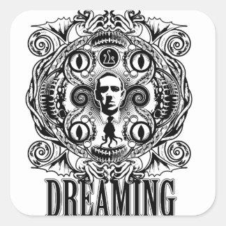 Pegatina Cuadrada Sueños de Lovecraftian