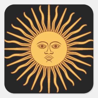 Pegatina Cuadrada Sun