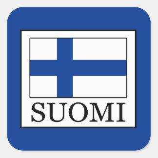 Pegatina Cuadrada Suomi