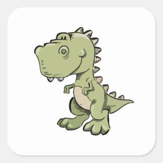 Pegatina Cuadrada T-Rex