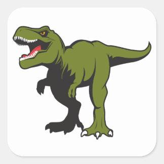 Pegatina Cuadrada T-Rex personalizó artículos