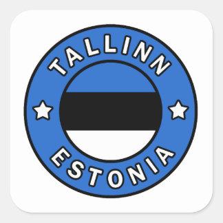 Pegatina Cuadrada Tallinn Estonia