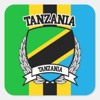 Pegatina Cuadrada Tanzania