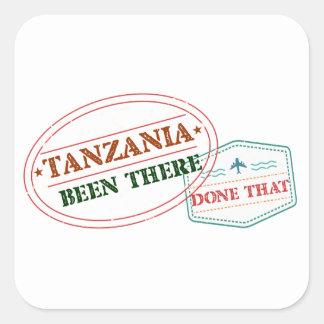 Pegatina Cuadrada Tanzania allí hecho eso