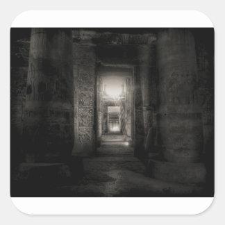 Pegatina Cuadrada Templo Abydos de Seti I