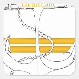 Pegatina Cuadrada teniente del oro, fernandes tony