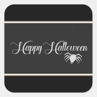 Pegatina Cuadrada Tipografía del feliz Halloween