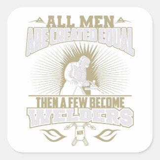 Pegatina Cuadrada Todos los hombres son pegatinas iguales creados de