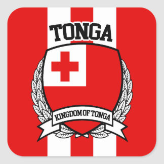 Pegatina Cuadrada Tonga