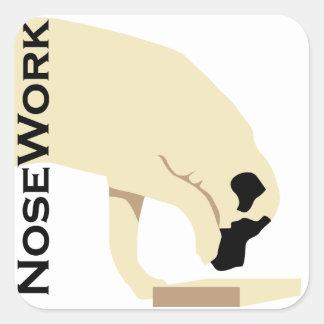 Pegatina Cuadrada Trabajo de Mastiffs_Nose