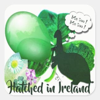 Pegatina Cuadrada Tramado en Irlanda