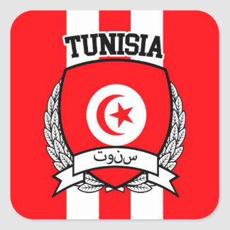 Pegatina Cuadrada Túnez