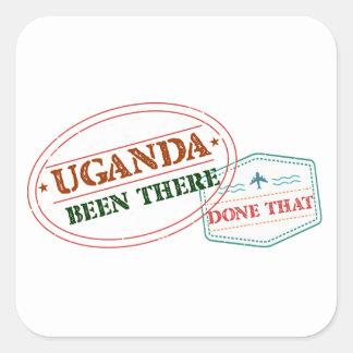 Pegatina Cuadrada Uganda allí hecho eso