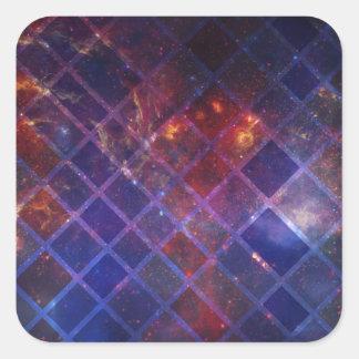 Pegatina Cuadrada Universo del bloque