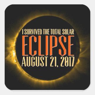 Pegatina Cuadrada ¿Usted atestiguará el eclipse en él es totalidad?