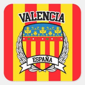 Pegatina Cuadrada Valencia