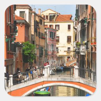 Pegatina Cuadrada Venecia, Italia