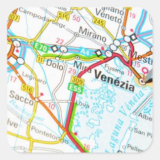 Pegatina Cuadrada Venezia, Venecia, Italia