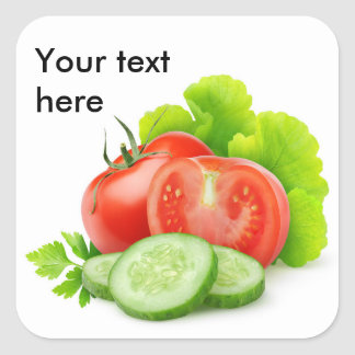 Pegatina Cuadrada Verduras frescas